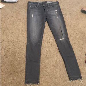 AG The Legging Ankle Gray Jeans